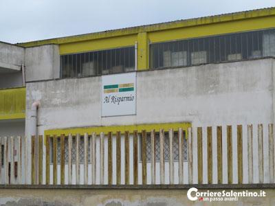 Lecce fallisce il colpo al deposito di detersivi al for Piano di deposito