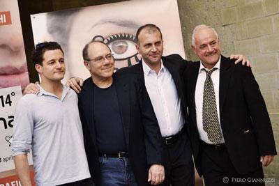 Brando-De-Sica,-Carlo-Verdone,-Alberto-La-Monica-e-Luca-Verdone