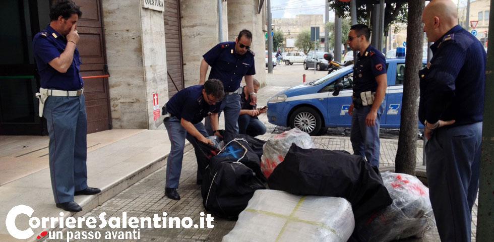 Maxi sbarco di droga alle cesine sequestrata circa mezza for Questura di lecce permesso di soggiorno