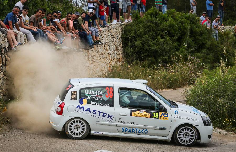 Rodolfo Lucrezio e Cristian Quarta al Rally del Salento 2016 (foto di L. D'Angelo)