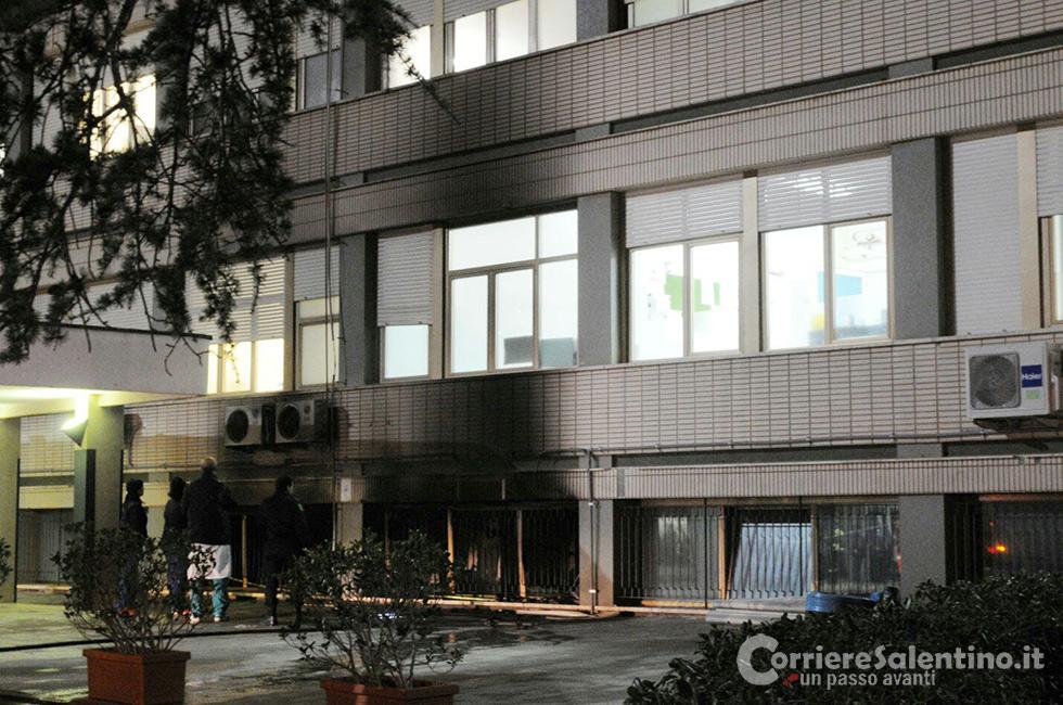 Incendio all'ospedale di Casarano, verifiche in corso. Asl: